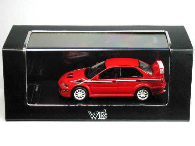 WIT's 1 / 43 Mitsubishi Lancer evolution VI Tommy Makinen Edition passion red solid