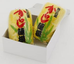 芥末蓮花兩熊本紀念品紀念品從專業糖果美食從與芥末、 蓮藕、 蓮藕禮物