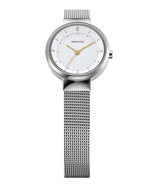 <クーポン除外品>ベーリング Ladies Solar Mini 腕時計 14424-001 シルバー&ホワイト レディース 14424-001 おしゃれ かわいい フォーマル BERING 時計 デザイン デザイナーズ