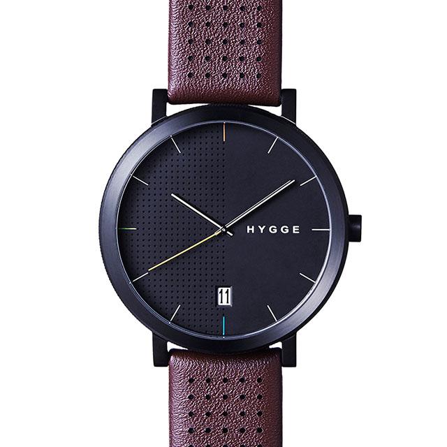 【エントリーで5倍】ヒュッゲ 2203 BROWN LEATHER/BLACK DIAL ブラウンレザー ブラックダイアル HGE020063 腕時計 ユニセックス HGE020063 おしゃれ かわいい フォーマル HYGGE 時計 デザイン デザイナーズ 北欧デザイン モダン 時計 ブランド