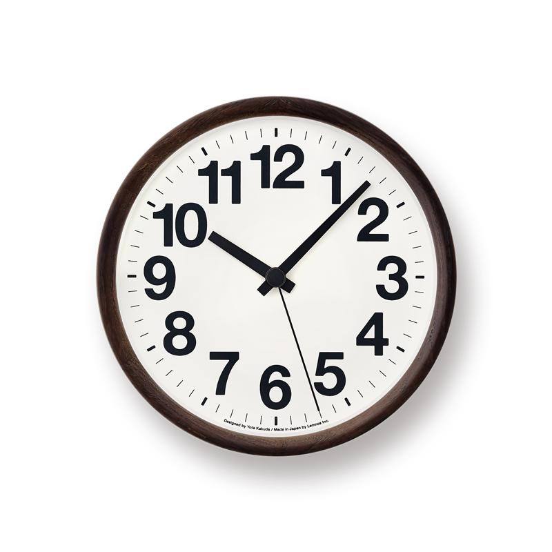 【200円クーポン対象】レムノス Clock A ブラック YK14-05 BK 掛け時計 YK14-05BK おしゃれ かわいい Lemnos 日本製 モダン 北欧スタイル 時計 壁掛け時計 見やすい レトロ 壁掛け シンプル デザイナーズ 時計 ウォールクロック 誕生日 結婚祝い 出産祝い 引越し祝い 改装祝