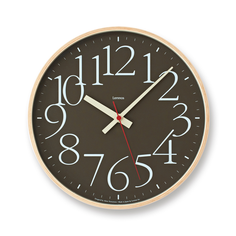 【200円クーポン対象】レムノス AY clock RC電波時計 / ブラウンAY14-10 BW 掛け時計 AY14-10BW おしゃれ かわいい Lemnos 日本製 モダン 北欧スタイル 壁掛け時計 見やすい レトロ 時計 壁掛時計 ウォールクロック デザイン デザイナーズ シンプル 誕生日 結婚祝い 出産祝い