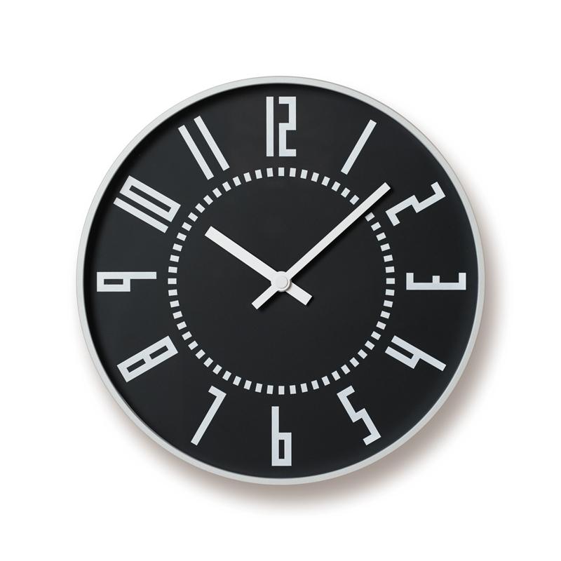 【500円クーポン対象】レムノス eki clock / ブラックTIL16-01 BK 掛け時計 TIL16-01BK おしゃれ かわいい Lemnos 日本製 モダン 北欧スタイル ウォールクロック 壁掛け時計 見やすい レトロ 掛時計 時計 デザイン デザイナーズ シンプル 誕生日 結婚祝い 出産祝い 引越し祝