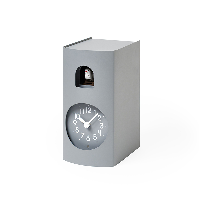 【500円クーポン対象】レムノス Bockoo カッコー時計 グレー GF17-04 GY GF17-04GY おしゃれ かわいい Lemnos 日本製 モダン 北欧スタイル シンプル デザイナーズ 鳩時計 からくり時計 置き時計 掛け置き兼用 時報 見やすい 誕生日 結婚祝い 出産祝い 引越し祝い 改装祝い 送