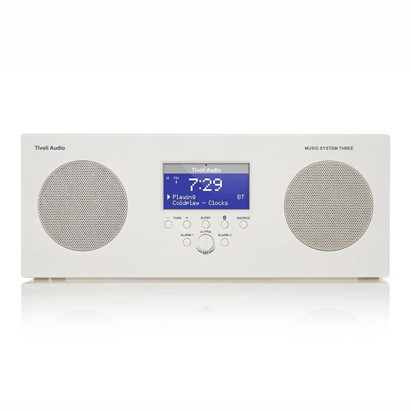 チボリオーディオ テーブルラジオ ミュージックシステム スリー ホワイト Tivoli Audio Music System Three Bluetooth対応 ブルートゥース MSY3-1758-JP お中元 おしゃれ かわいい チボリオーディオ テーブルラジオ ミュージックシステム スリー ホワイト T 誕生日 結婚祝い