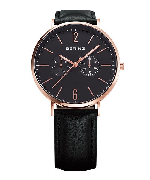 【エントリーで5倍】ベーリング 腕時計 14240-166 ブラック×ローズゴールド Calf Leather & Mesh Changes ユニセックス 14240-166 おしゃれ かわいい フォーマル BERING 時計 デザイン デザイナーズ 北欧デザイン モダン 時計 アナログ ブランド