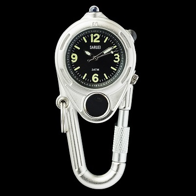LED KEY WATCH 携帯用時計 シルバー おしゃれ かわいい 腕時計 懐中時計 ウォッチ 時計 レトロ アンティーク