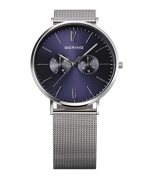 <クーポン除外品>ベーリング 腕時計 14240-307 ネイビー×シルバー ユニセックス 14240-307 おしゃれ かわいい フォーマル BERING 時計 デザイン デザイナーズ 北欧デザイン モダ