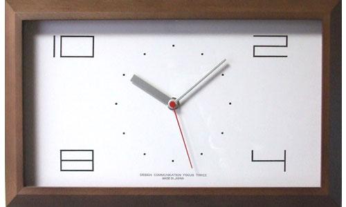 【200円クーポン対象】フォーカススリー 黄金比の時計 V-0001(電波時計)ブラウン 掛け時計 V-0001-BROWN おしゃれ かわいい 時計 壁掛け時計 デザイン デザイナーズ ウォールクロック 誕生日 結婚祝い 出産祝い 引越し祝い 改装祝い 送別 退職 内祝い 新築祝い 誕生日プレ