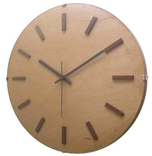 【500円クーポン対象】フォーカススリー ドームバークロック V-065(電波時計)ナチュラル 掛け時計 V-065-NATURAL おしゃれ かわいい 時計 壁掛け時計 デザイン デザイナーズ ウォールクロック 誕生日 結婚祝い 出産祝い 引越し祝い 改装祝い 送別 退職 内祝い 新築祝い 誕