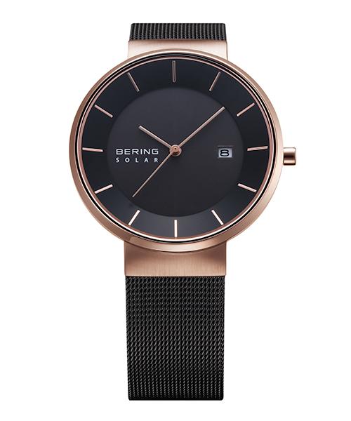 【送料無料】ベーリング 腕時計 14639-166 ブラック/ローズゴールド メンズ 14639-166 おしゃれ かわいい フォーマル BERING Mens Scandinavian Solar ゴールド