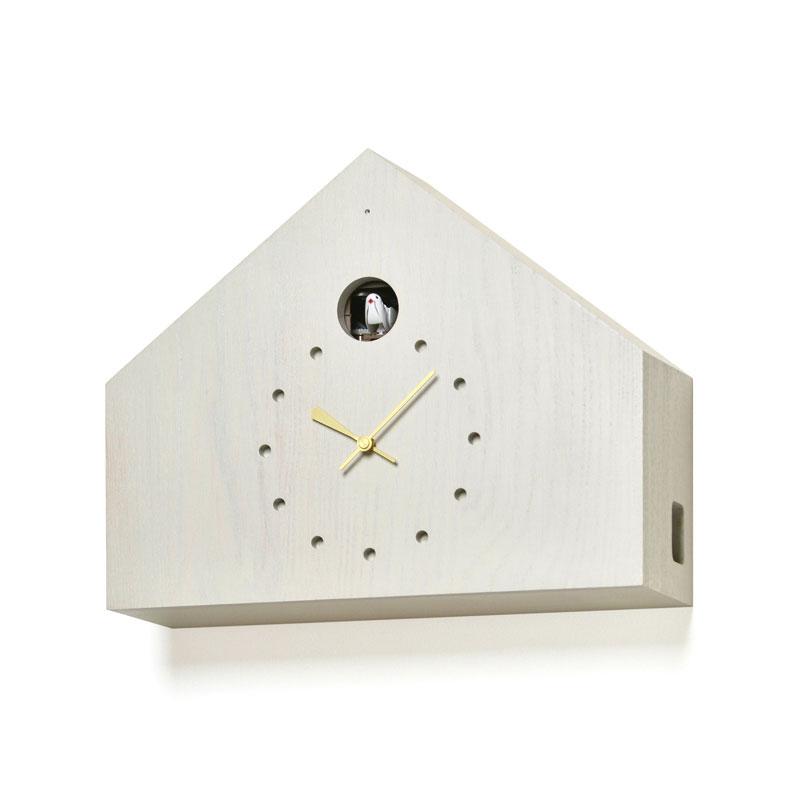 レムノス Lemnos CUCULO FELICE 掛け時計 カッコー時計 グレー MAA18-01 GY おしゃれ かわいい ポイント消化 灰色 ハト 鳩時計 からくり時計 置き時計 掛け置き兼用 壁掛時計 壁掛け 掛時計 北欧 シンプル デザイン モダン 見やすい 誕生日 結婚祝い 出産祝い 引越し祝い 改
