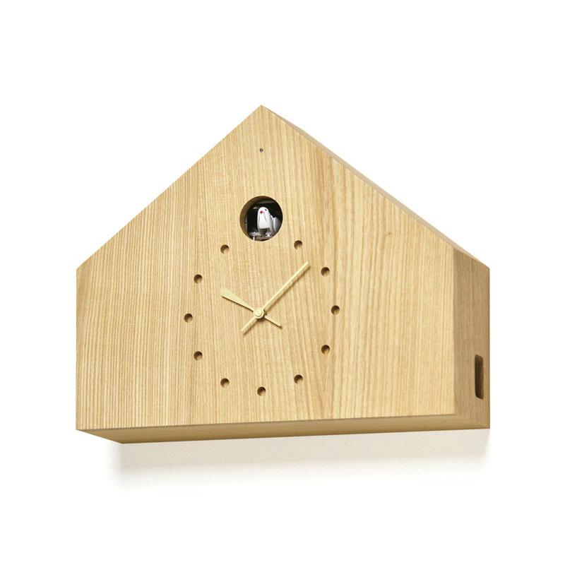 レムノス Lemnos CUCULO FELICE 掛け時計 カッコー時計 ナチュラル MAA18-01 NT おしゃれ かわいい ポイント消化 ブラウン ベージュ ハト 鳩時計 からくり時計 置き時計 掛け置き兼用 壁掛時計 壁掛け 掛時計 北欧 シンプル デザイン モダン 見やすい 誕生日 結婚祝い 出産