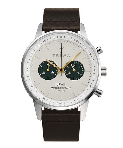 <クーポン除外品>トリワ 腕時計 EMERALD NEVIL DARK BROWN CLASSIC NEST121-CL010412 ホワイト/シルバー/ブラック ユニセックス NEST121-CL010412 おしゃれ かわいい フォーマル
