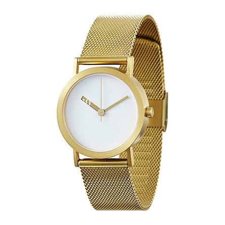 【10%OFFクーポン対象】ノーマル エクストラノーマル ステンレススティール EN07-M18GO 腕時計 レディース ホワイト ゴールド おしゃれ かわいい 女性 EXTRA NORMAL STAINLESS STEEL no