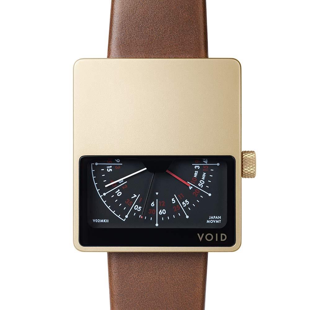 【10%OFFクーポン対象】VOID V02MK II 腕時計 V02MKII-GO/LB ゴールド ブラウン おしゃれ かわいい ヴォイド 時計 ユニセックス デジタル 時計 ユニセックス 男女兼用 デザイナーズ シンプル ミニマム