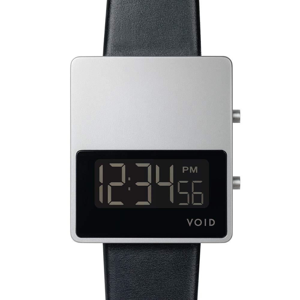 【10%OFFクーポン対象】VOID V01MK II 腕時計 V01MKII-SI/BL シルバー ブラック おしゃれ かわいい ヴォイド 時計 ユニセックス デジタル 時計 ユニセックス 男女兼用 デザイナーズ シ