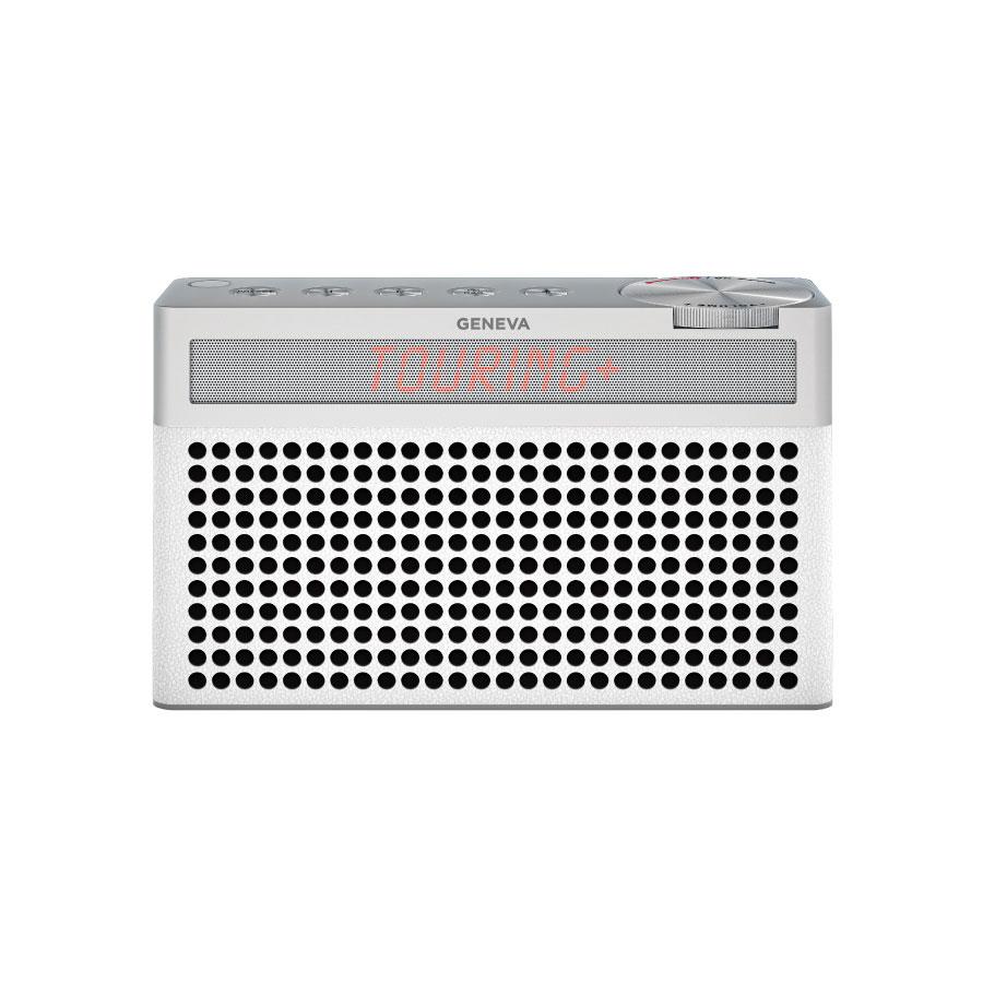 気質アップ 送料無料 スイスのオーディオメーカーGENEVAのスピーカー Geneva 最新号掲載アイテム ジェネバ Touring S+ FMラジオ Bluetooth ポータブルスピーカー おしゃれ ブルートゥース かわいい ラジオ 875419016665JP 白 ワイヤレス ホワイト 外付けスピーカー