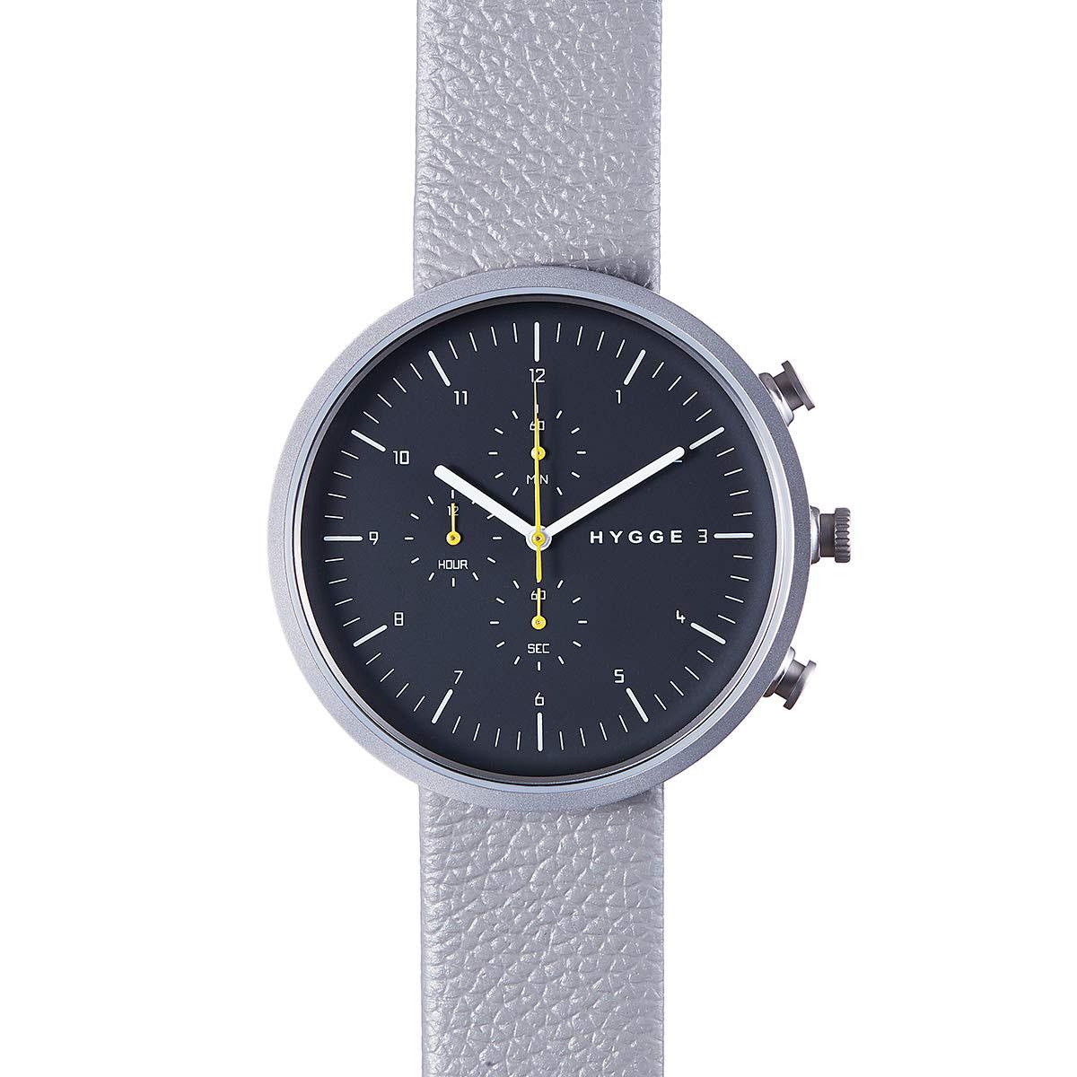 【10%OFFクーポン対象】ヒュッゲ HGE020079 Horizon ブラック/ダークグレー/シルバー 腕時計 ユニセックス おしゃれ かわいい HYGGE ホライゾン 灰色 銀 黒 クロノグラフ 時計 服飾雑貨
