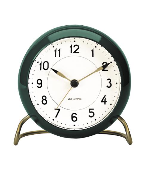 アルネヤコブセン ARNE JACOBSEN テーブルクロック ステーション 43677 グリーン 目覚し時計 おしゃれ かわいい TABLE CLOCK STATION 時計 テーブルクロック アラームクロック 置き時計 北欧 デザイン デザイナーズ シンプル 誕生日 結婚祝い 出産祝い