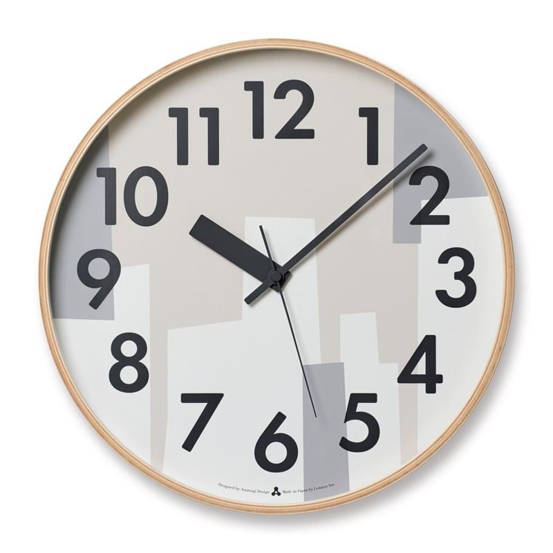 【200円クーポン対象】レムノス Lemnos KASUMI ベージュ AWA19-11 BG 掛け時計 おしゃれ かわいい ブラウン ホワイト グレー 木 ウッド 壁掛時計 壁掛け 掛時計 北欧 シンプル 大きい 見やすい デザイン 誕生日 結婚祝い 出産祝い 引越し祝い 改装祝い 送別 退職 内祝い 新築