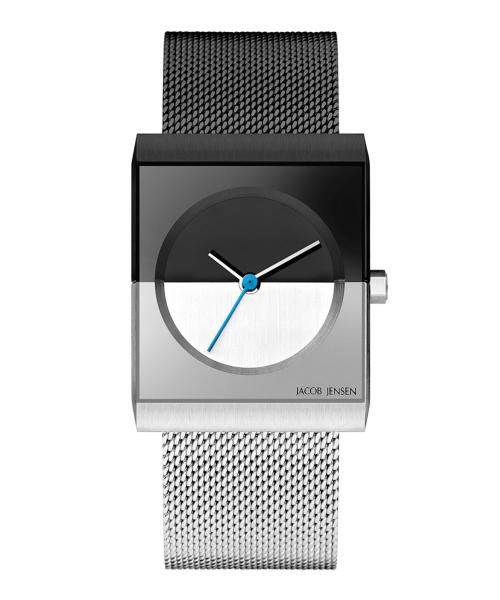 <クーポン除外品>ヤコブイェンセン JACOB JENSEN 腕時計 Classic 525 ブラック/シルバー/ブルー レディース 時計 銀 青 黒 女性 デザイナーズ デザイン 北欧 ミニマル シンプル