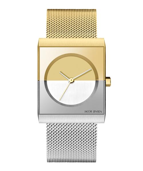 <クーポン除外品>ヤコブイェンセン JACOB JENSEN 腕時計 Classic 526 シルバー/ゴールド レディース 時計 銀 青 金 女性 デザイナーズ デザイン 北欧 ミニマル シンプル モダン
