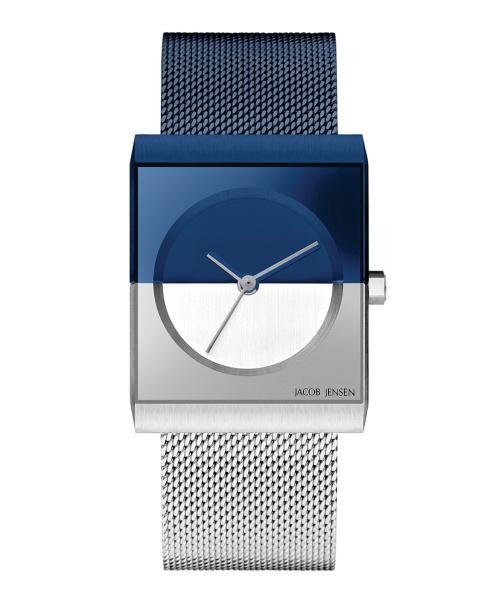 【エントリーで5倍】ヤコブイェンセン JACOB JENSEN 腕時計 Classic 24mm 527 ネイビー/シルバー/ブルー レディース おしゃれ かわいい 時計 銀 青 白 女性 ヤコブヤンセン デザイナーズ デザイン 北欧 ミニマル シンプル モダン