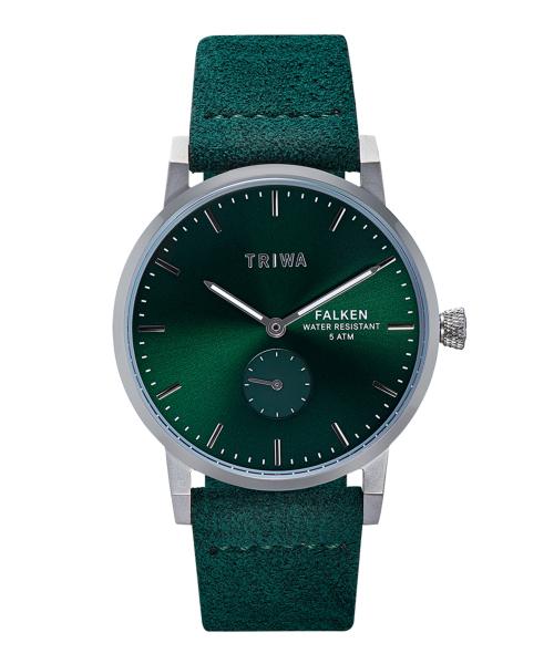 【エントリーで5倍】トリワ TRIWA EMERALD FALKEN FAST123-CL210912P 腕時計 ホワイト/グリーン おしゃれ かわいい エメラルドフランケン 時計 緑 白 ユニセックス 男女兼用 スモールセコンド モダン フォーマル 北欧デザイン 時計 デザイナーズ
