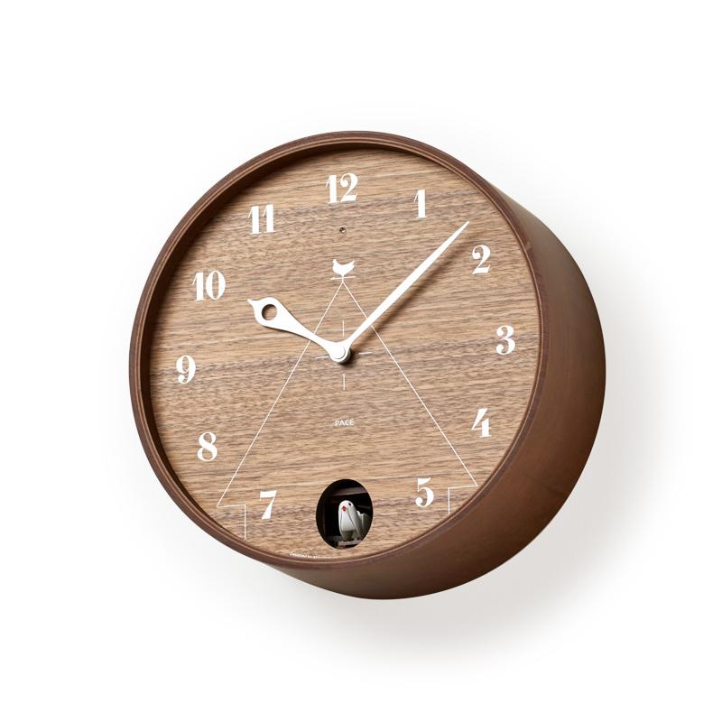 おしゃれでかわいいレムノス Lemnosの時計 Lemnos 新作通販 捧呈 レムノス PACE ブラウン LC11-09BW カッコー時計 掛け時計 時計 鳩時計 掛時計 北欧 壁掛け時計 壁 インテリア 北欧雑貨 雑貨 レトロ 壁掛け からくり時計 山本章