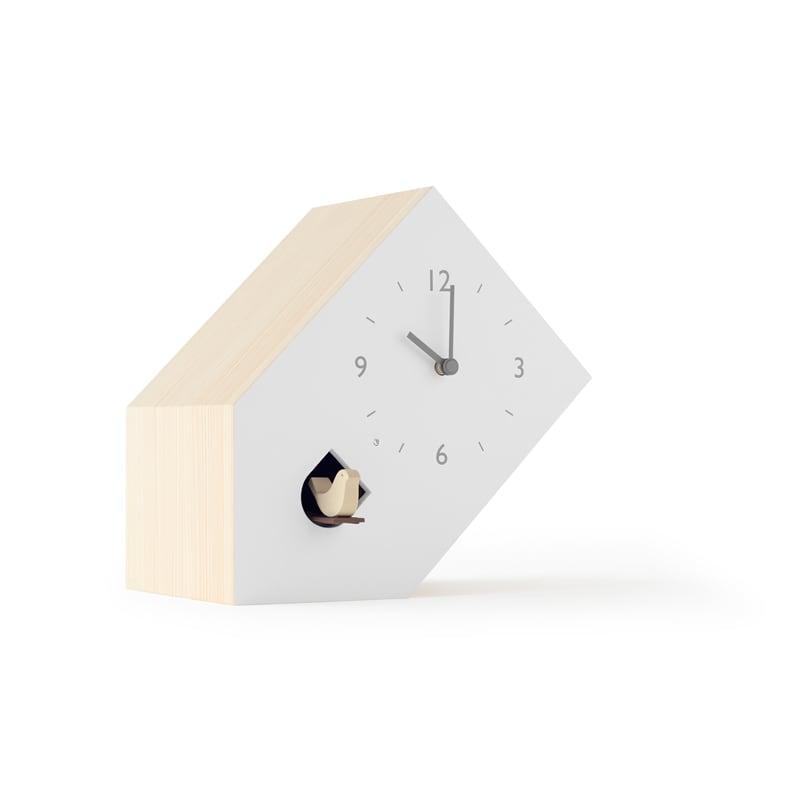 レムノス Lemnos cuckoo-collection tilt ティルト NL19-02 カッコー時計 おしゃれ かわいい ホワイト 鳩時計 時計 置き時計 からくり時計 北欧 シンプル 大きい 見やすい デザイン 誕生日 結婚祝い 出産祝い 引越し祝い 改装祝い 送別 退職 内