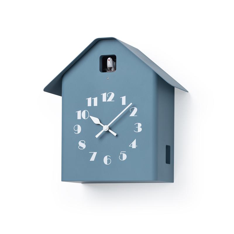 【700円クーポン対象】Lemnos レムノス Dachs Cuckoo ブルー RF20-03 BL カッコー時計 おしゃれ かわいい 青 壁掛け時計 掛け時計 置き時計 鳩時計 からくり時計 デザイン デザイナーズ シンプル 北欧スタイル 時報 日本製 結婚祝い 新築祝い 見やすい 誕生日 結婚祝い 出産