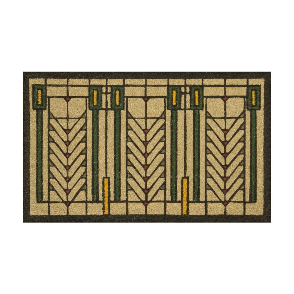 フランクロイドライト ツリーオブライフ マルチカラードアマット 玄関マット おしゃれ かわいい 屋外 ドアーマット フランク・ロイド・ライト Frank Lloyd Wright ドアマット Tree of Life インテリア 玄関 マット雑貨 モダン