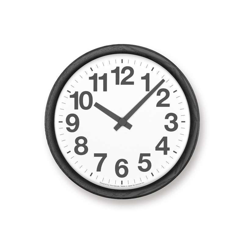 【送料無料】レムノス Lemnos Clock A 電波時計 ブラック YK19-13 BK 掛け時計 おしゃれ かわいい ホワイト ブラック 木 ウッド 角田陽太 壁掛時計 壁掛け 掛時計 北欧 シンプル 大きい 見やすい デザイン 誕生日 結婚祝い 出産祝い 引越し祝い 改装祝い 送別 退職 内祝い 新
