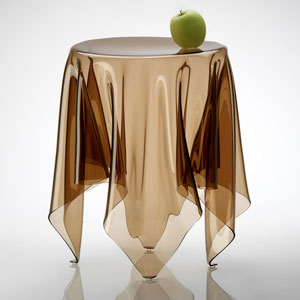 essey (에세이) Illusion 보조 탁자 브라운