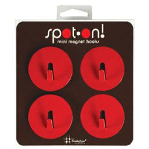 Mini Magnet Hook Three by Three Spot On Orange