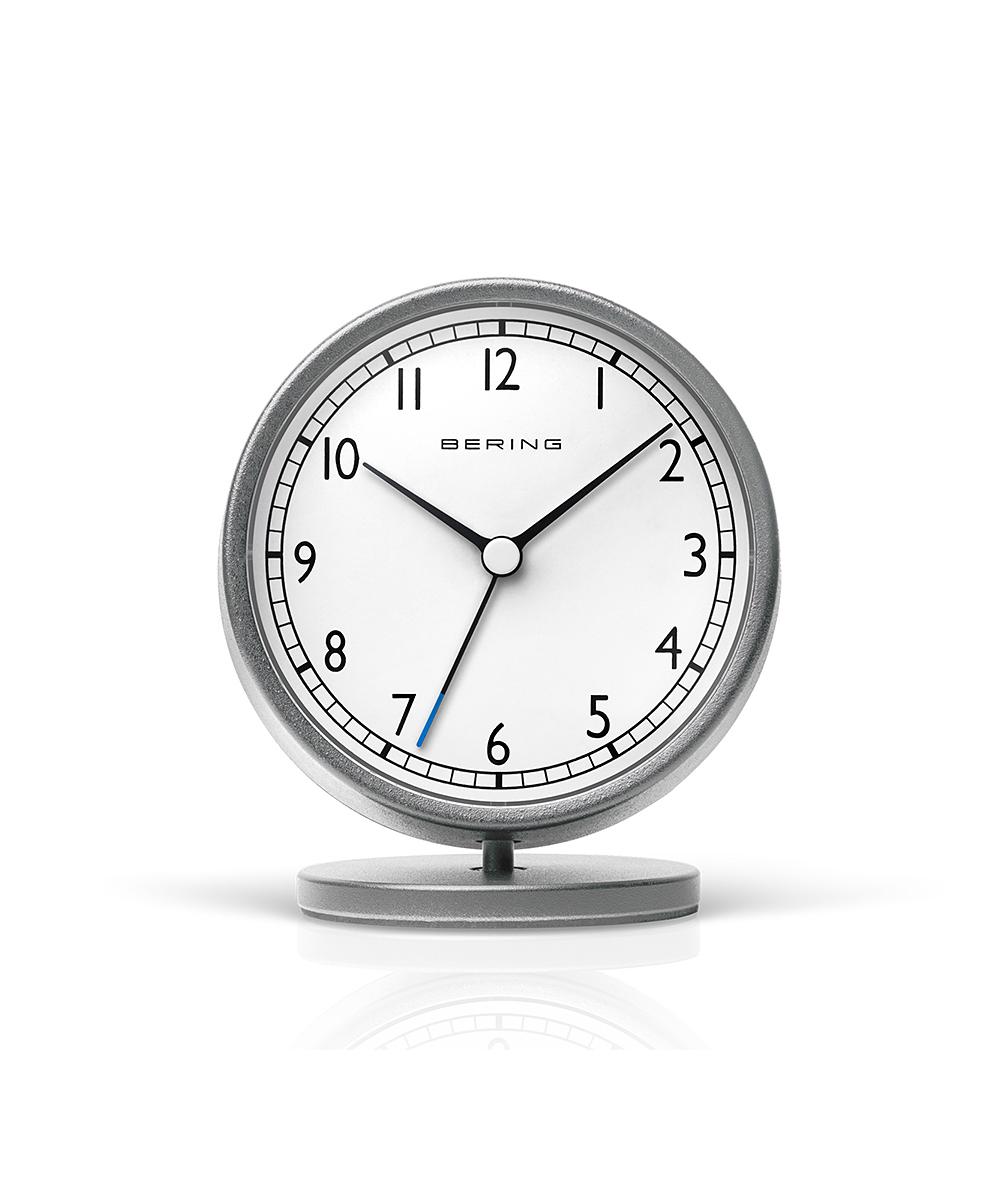 ベーリングの置き時計 目覚まし時計 おしゃれ 北欧 アナログ ブランド スイープ 静音 静か 寝室 ベーリング シンプル シルバー 贈呈 置き時計 90096-045R かわいい クラシックテーブルクロック ホワイト 見やすい 新作 おすすめ 置時計