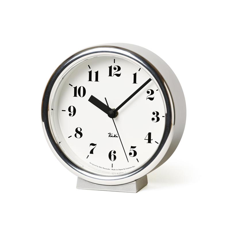レムノス Lemnos リキ アルミニウム クロック RIKI ALUMINUM CLOCK WR06-29 ホワイト シルバー 置き掛け兼用時計  ホワイトデー  ギフト 誕生日プレゼント 女友達 結婚祝い ギフトセット 出