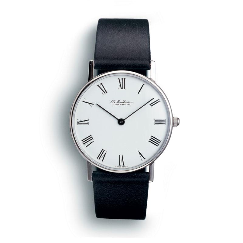 【10%OFFクーポン対象】オーレマティーセン ROMAN.WHITE DIAL OM-1.33 腕時計 メンズ 時計 OM133 おしゃれ かわいい Ole Mathiesen 腕時計 王室御用達 デザイン 北欧 時計 オーレ・マテ