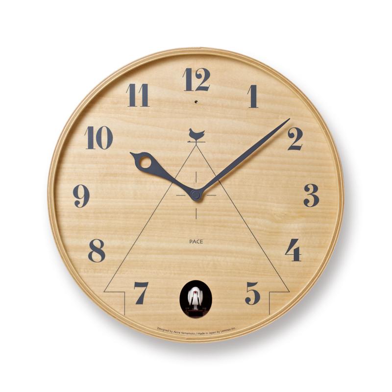 【2000円OFFクーポン対象】レムノス PACE ナチュラル 掛け時計 おしゃれ かわいい Lemnos 日本製 モダン 北欧スタイル 山本章 壁掛け時計 見やすい レトロ 掛時計 デザイナーズ デザイン シンプル【送料無料】