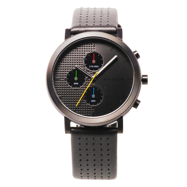 【10%OFFクーポン対象】ヒュッゲ 2204 Leather Black dial Black case 腕時計 ユニセックス HYGGE 時計 MSL2204BCBK おしゃれ かわいい フォーマル HYGGE 時計 デザイン デザイナーズ