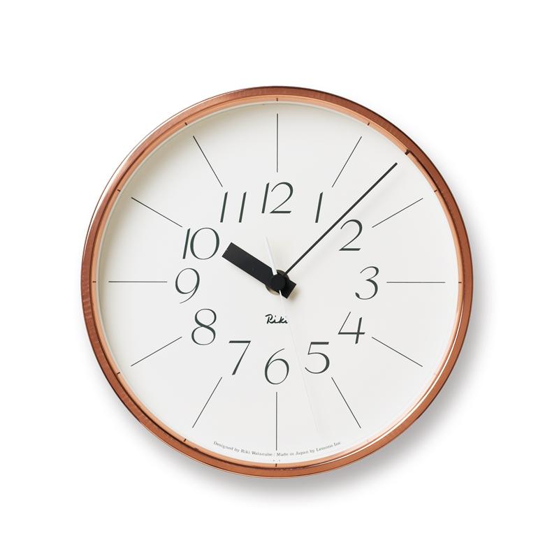 【店内全品10%OFFクーポン】レムノス 銅の時計 掛け時計 おしゃれ かわいい Lemnos 日本製 モダン 北欧スタイル 壁掛け時計 見やすい レトロ 掛時計 デザイナーズ デザイン シンプル【送料無料】