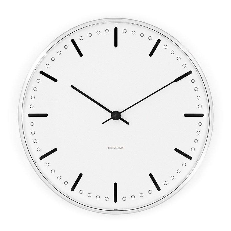 【2000円OFFクーポン対象】アルネヤコブセン 時計 シティホールクロック 210mm 掛け時計 CityHall おしゃれ かわいい ARNE JACOBSEN 壁掛け時計 ウォールクロック Wall Clock 北欧デザイン デザイナーズ モダン 建築【送料無料】