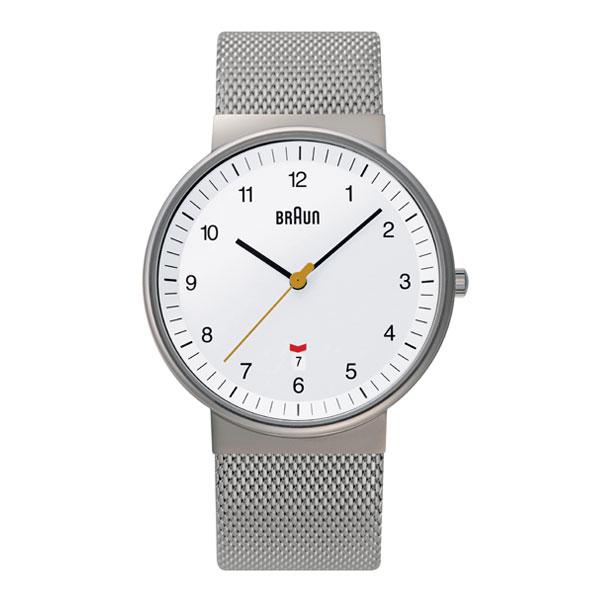 <クーポン除外品>ブラウン 腕時計 BNH0032 Mesh ホワイト メンズ 時計 BNH0032WHSLMHG おしゃれ かわいい フォーマル BRAUN 時計 デザイン デザイナーズ ブラウン時計 ブラウン腕