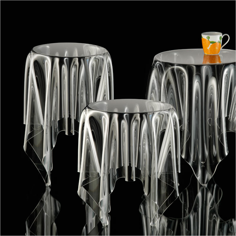 Essey Tall Illusion Side Table Clear Essay Thor Illusion Clear Table  Designers Furniture Desk Europe