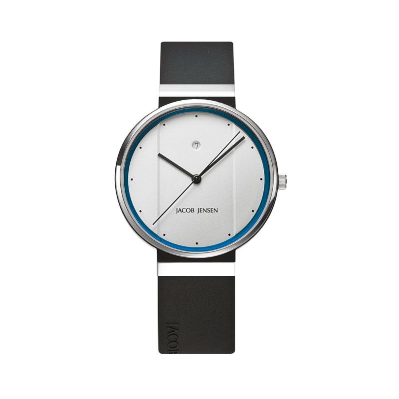 <クーポン除外品>ヤコブ・イェンセン New 腕時計 750 メンズ ホワイト×ブルー JJ750 おしゃれ かわいい フォーマル ヤコブイェンセン JACOB JENSEN New 腕時計 750 メンズ ホワ