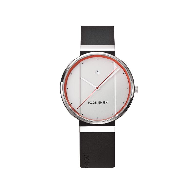 【2000円クーポン対象】ヤコブ・イェンセン New 腕時計 755 メンズ ホワイト×オレンジ NEW755 おしゃれ かわい