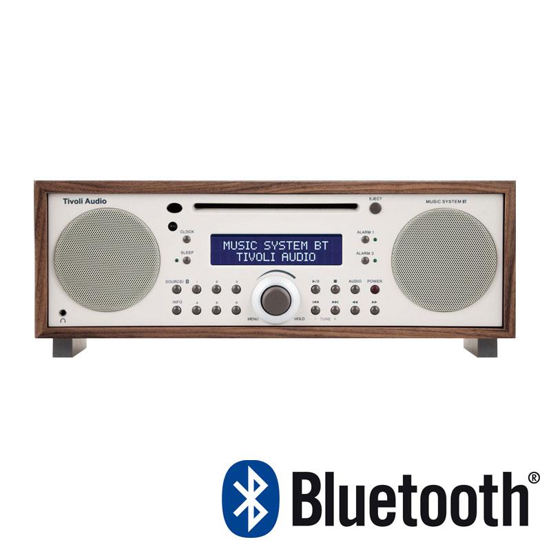 チボリ Tivoli テーブルラジオ・スピーカー ミュージックシステム BT クラシックウォルナット/ベージュ MSYBT-1529-JP Music System BT Bluetooth ワイヤレス ブルートゥース iPod スピーカー 外付スピーカー TVJPMSYBTCLA おしゃれ かわいい Tiv