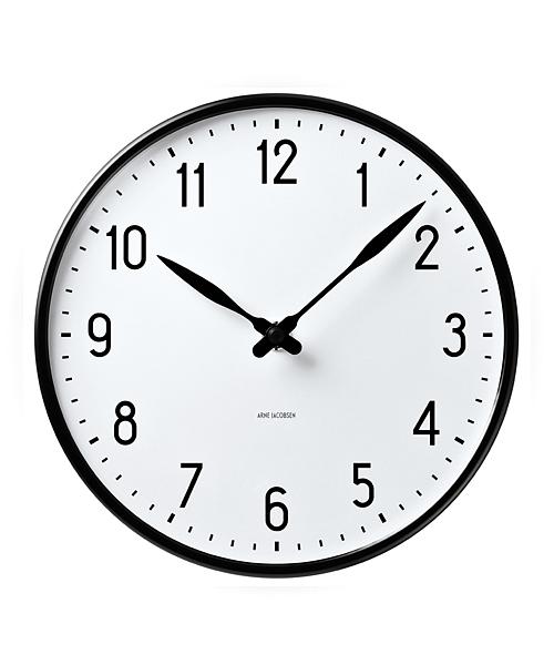 【1000円クーポン対象】アルネヤコブセン 時計 ステーションクロック 210mm 掛け時計 STATION 43633 おしゃれ かわいい ARNE JACOBSEN 壁掛け時計 ウォールクロック Wall Clock 北欧デザイン デザイナーズ モダン 建築 誕生日 結婚祝い 出産祝い 引越し祝い 改装祝い 送別 退