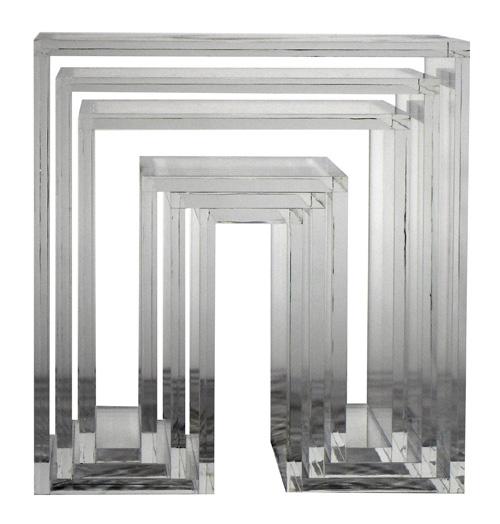 【3000円クーポン対象】アボード ネスティングテーブル 3個セット クリア リビングテーブル おしゃれ かわいい abode オーディオ 机 デスク テレビ台 棚 テーブル 収納 ベンチ 収納 いす 椅子 イス チェア デザイナーズ家具 デザイン モダン シンプル 北欧スタイル 誕生日 結